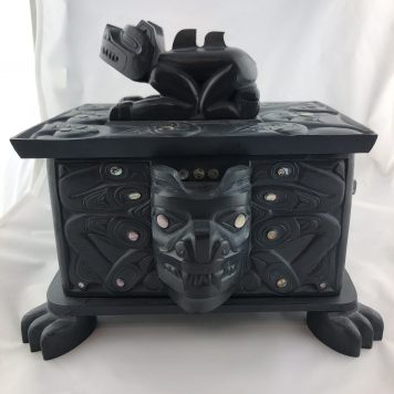 Argillite Bear Box by Shawn Edgars