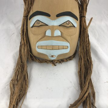 Blue Princess Mask by Haida Artist Jason Watts