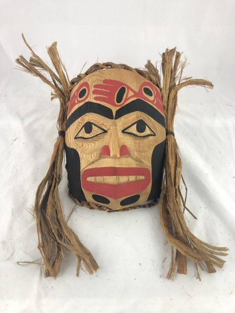 Raven Mask carved in cedar by Haida Artist John Watts.