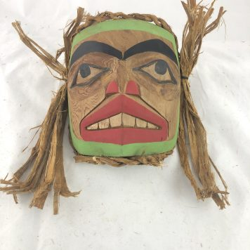 The Green Man Mask carved in Cedar by Haida Artist Jason Watts.
