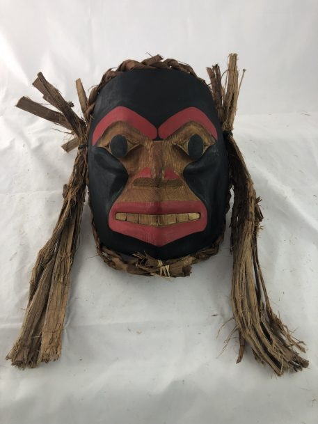 Human Mask carved in Cedar by Haida Artist Jason Watts.