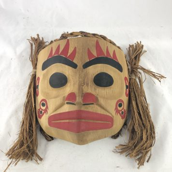 Sculpin Mask carved in cedar by Haida Artist John Watts.